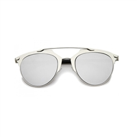 City Pantos Aviator Mirrored Lens Sunglasses