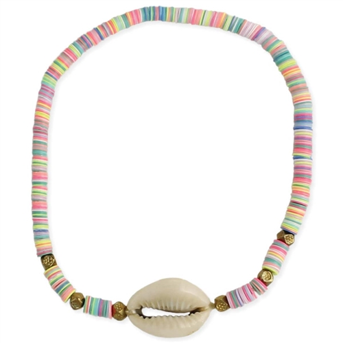 Pastel Perfection Cowry Shell Stretch Anklet Bracelet