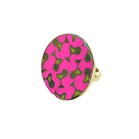 Covet Martini Enamel Disc Statement Ring