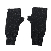Alex Max Metallic Knit Fingerless Texting Gloves