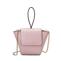186b7d5c923a Melie Bianco Adele Vegan Leather Ring Wristlet Crossbody Bag, Blush Pink