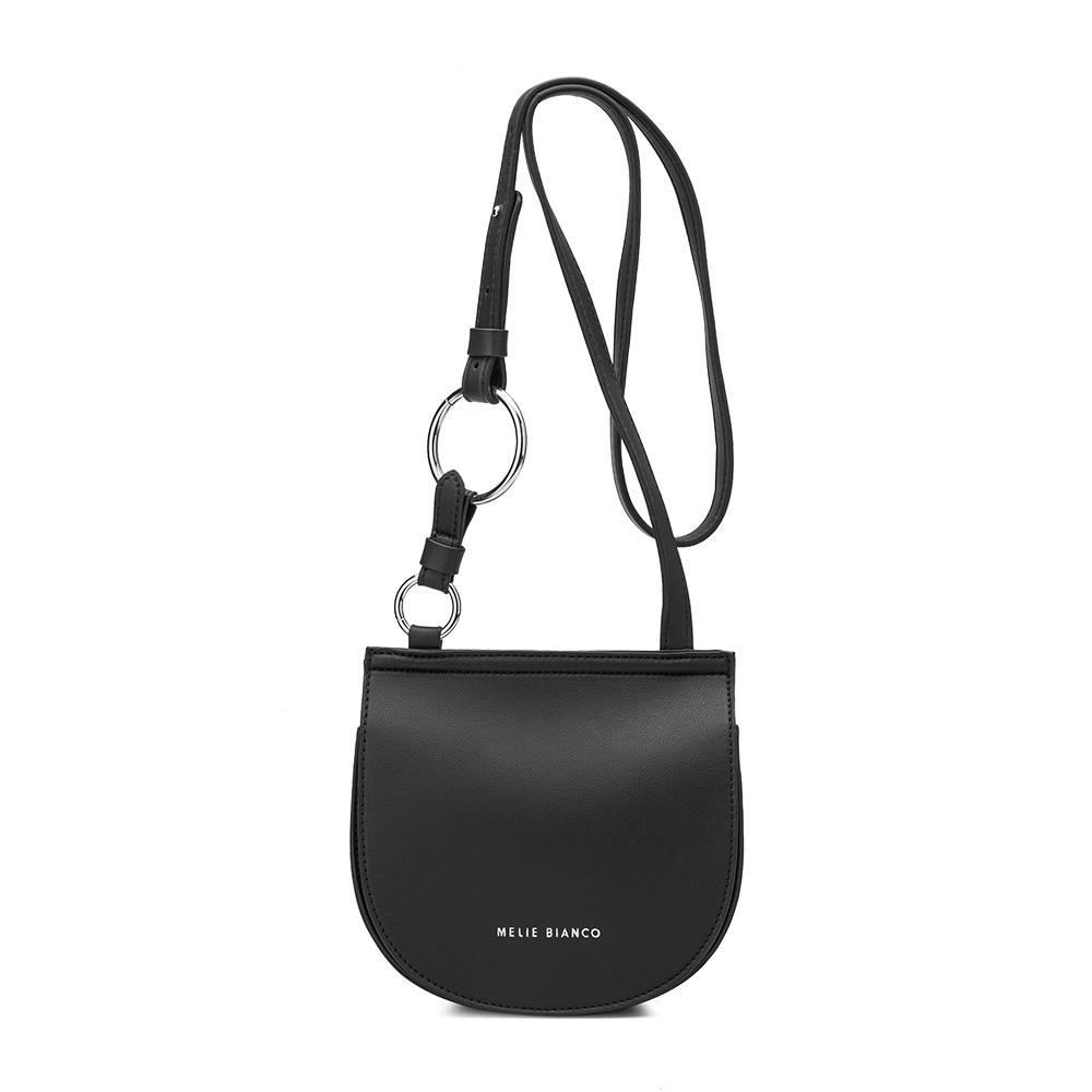 37ba9e9c300774 Melie Bianco Aly Vegan Leather Saddle Crossbody Bag, Black
