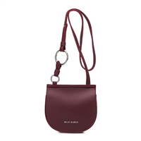 Melie Bianco Aly Vegan Leather Saddle Crossbody Bag