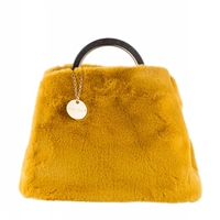 Alex Max Cora Faux Fur Ring Handle Trapezoid Tote