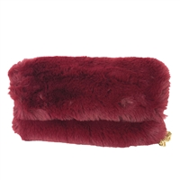 Alex Max Charlotte Faux Fur Fold Over Clutch Crossbody Bag