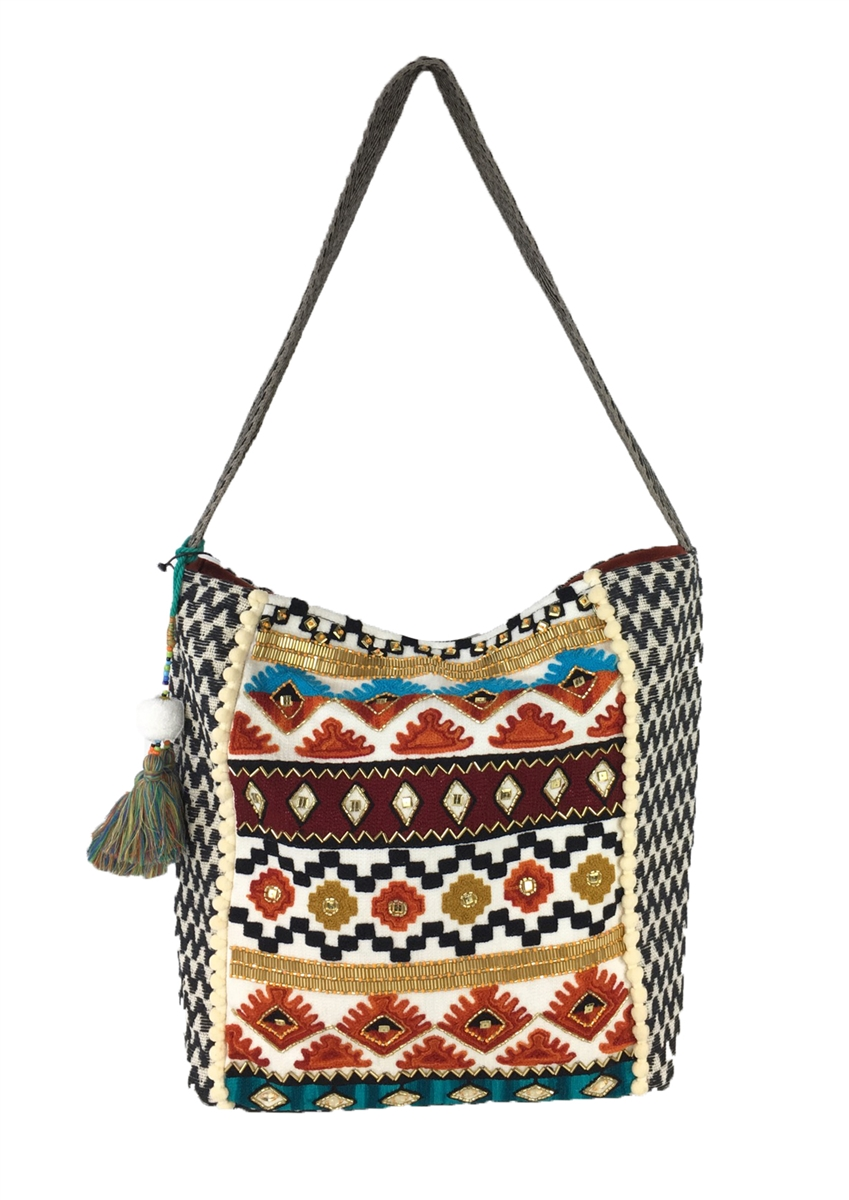 005cc277a7 Steven By Steve Madden Alyson Embroidered Hobo