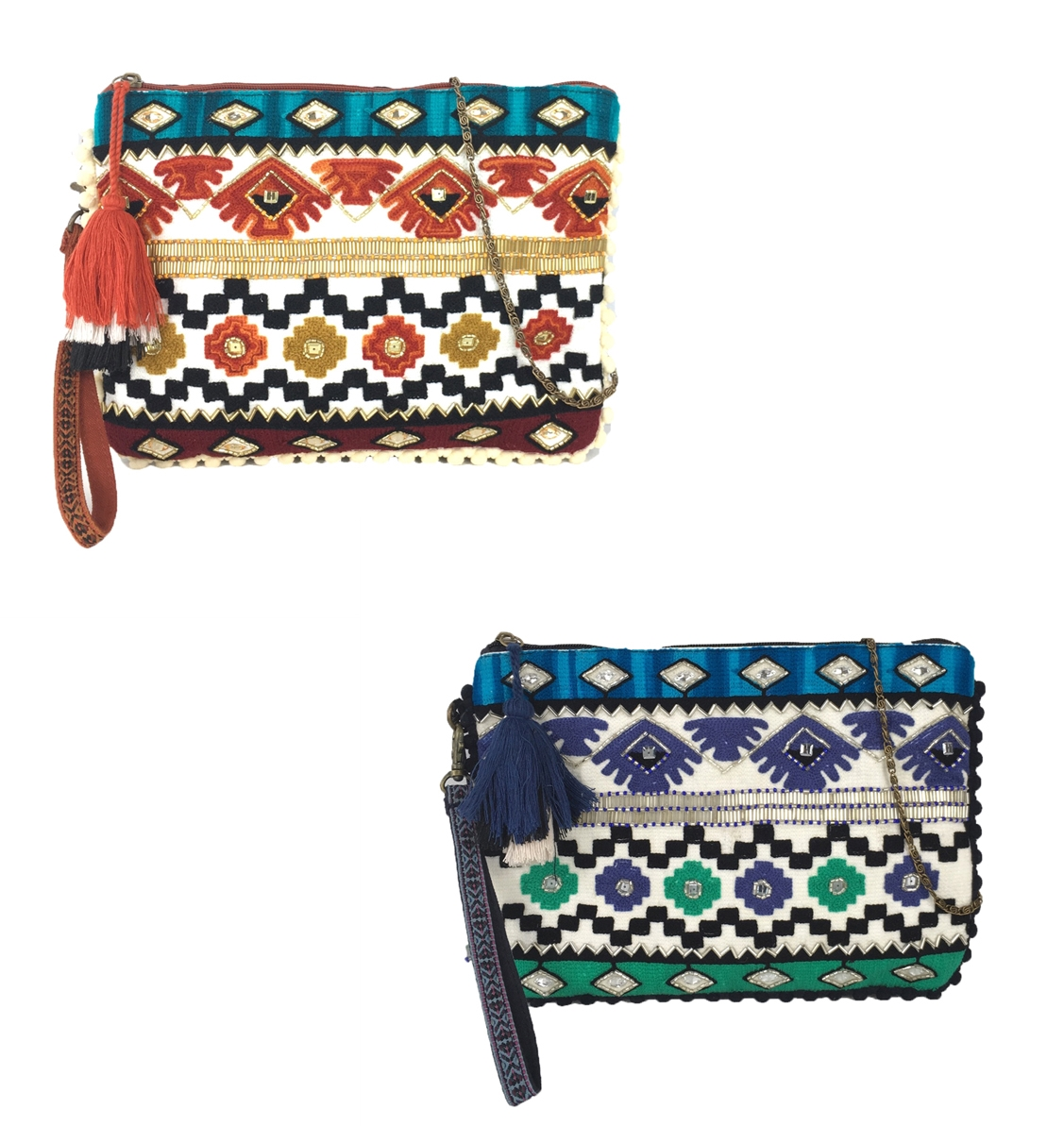 24bb32f5480 Steven By Steve Madden Arya Embroidered 3 Way Clutch