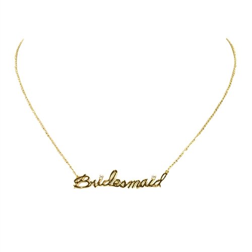 Betsey Johnson Bridesmaid Pendant Necklace