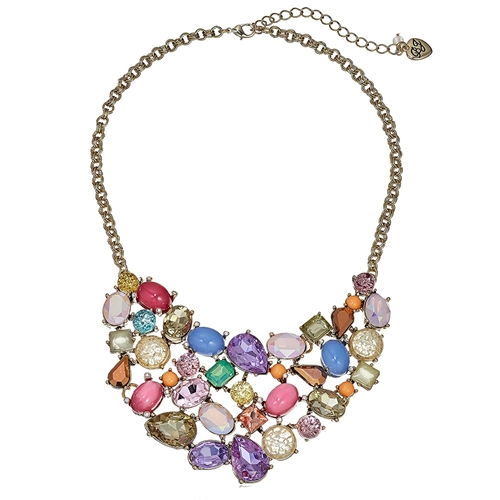 Betsey Johnson Sweet Shop Statement Bib Necklace