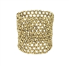 Zad Jewelry Beaded Open Weave Wide Stretch Cuff Bracelet