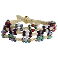 Earthy Jewels Bead & Macrame Slider Bracelet