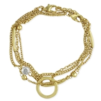 Zad Jewelry Multi Chain Link Layering Bracelet