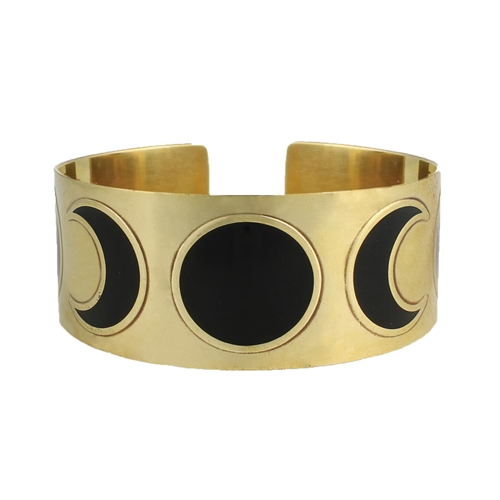 Zad Jewelry Moon Phases Wide Cuff Bracelet