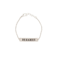 Zad Jewelry Dreamer Engraved Bar Bracelet