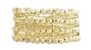 Zad Jewelry 'Ra' Beaded Stretch Cuff Bracelet