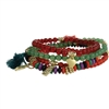 Zad Jewelry Beaded Tassel Stretch Bracelet Set of 4
