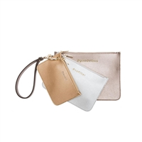 Melie Bianco Lexi Set of 3 Hashtag Wristlet Pouches