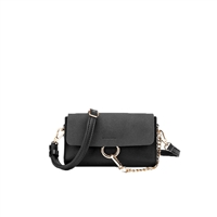 Melie Bianco Issa Vegan Leather Ring Clutch Crossbody