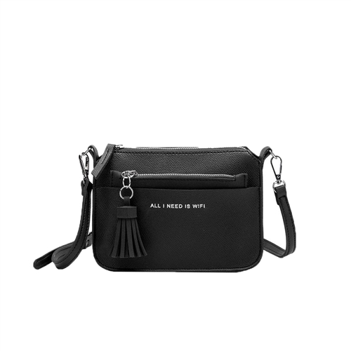 Melie Bianco Aida 'All I Need Is Wifi' Vegan Leather Mini Crossbody