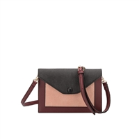 Melie Bianco Vivian Colorblock Vegan Leather Crossbody Clutch