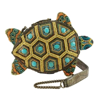 Mary Frances Turtle By The Sea Beaded Crossbody