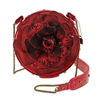 Mary Frances Disney Beauty and the Beast 3D Rose Crossbody