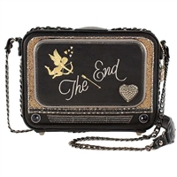 Mary Frances Late Night Vintage TV Vegan Leather Crossbody