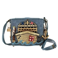 Mary Frances All Aboard Cruise Ship Beaded Crossbody Bag