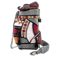 Mary Frances Don't Be Caddy Golf Clubs Beaded 3D Crossbody