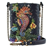 Mary Frances Sea Horse Drifting Along Vegan Crossbody