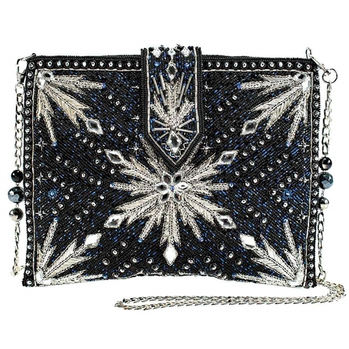 Mary Frances Disney Frozen 2 North Calls Snowflake Beaded Crossbody