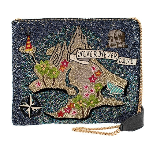 Mary Frances Disney Peter Pan Neverland Map Beaded Crossbody