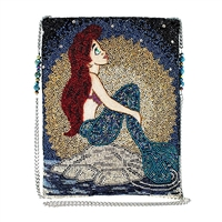 Mary Frances Disney Ariel At Sea The Little Mermaid Beaded Crossbody Clutch
