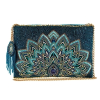 Mary Frances Disney Princess Jasmine Peacock Beaded Crossbody