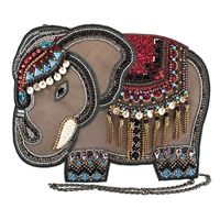 Mary Frances Decorated Royal Elephant Festival Leather Crossbody