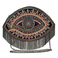 Mary Frances Inner Vision Evil Eye Beaded Convertible Crossbody