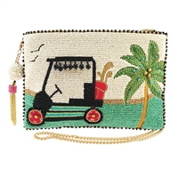 Mary Frances Day On The Green Golf Cart Beaded Convertible Crossbody