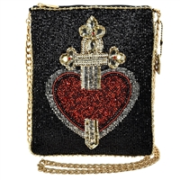 Mary Frances Disney Snow White Evil Queen Dagger Heart Majesty Beaded Crossbody,