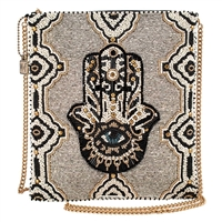Mary Frances Hamsa Beaded Convertible Crossbody
