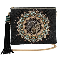 Mary Frances Harmony Yin Yang Beaded Convertible Crossbody