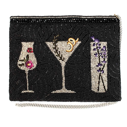 Mary Frances After Hours Botanical Cocktails Convertible Clutch Crossbody,