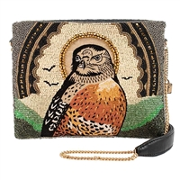 Mary Frances Vision Quest Bird Beaded Clutch Crossbody Bag