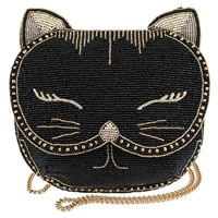 Mary Frances Whiskers Beaded Cat Crossbody