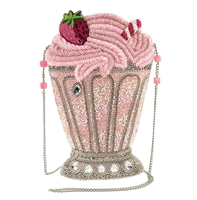 Mary Frances Shake Strawberry Milkshake Beaded Crossbody
