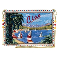 Mary Frances Ciao Sailing Beaded Clutch Crossbody Bag