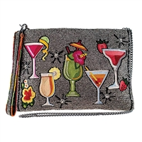 Mary Frances Mixed Drinks Cocktails 3 Way Crossbody Clutch