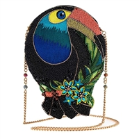 Mary Frances Bill Me Toucan Beaded Clutch Crossbody Bag