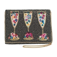 Mary Frances Garden Party Champagne Convertible Clutch Crossbody