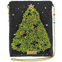 Mary Frances Spruced Up Christmas Tree Holiday Beaded Clutch Crossbody