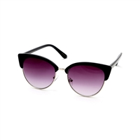 Big Buddha Mod Round Cat Eye Sunglasses